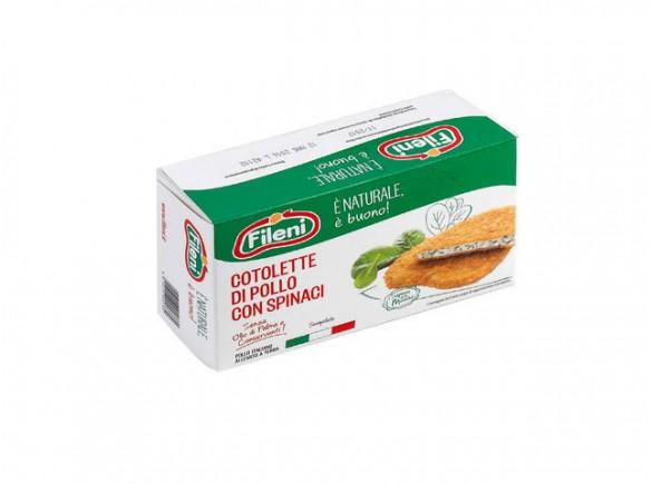 Cotoletta Di Pollo E Spinaci Fileni...
